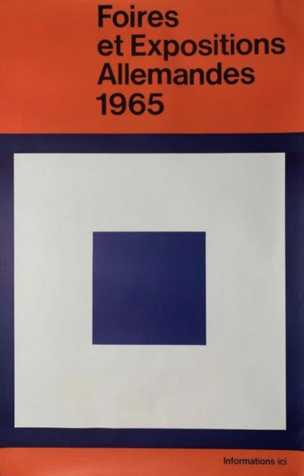 Foires Allemandes 1965 Original Vintage Poster