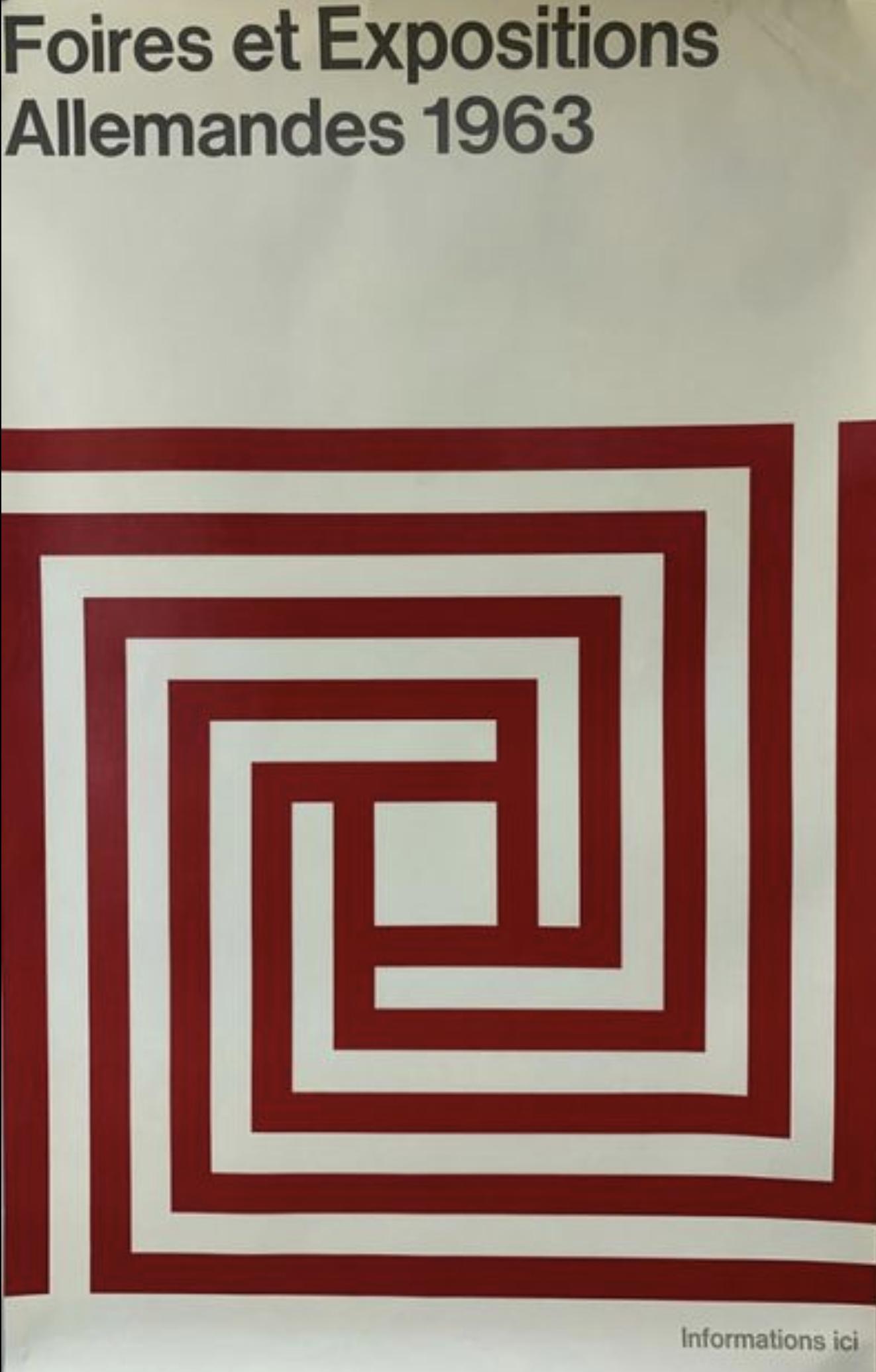 Foires Allemandes 1963 Original Vintage Poster