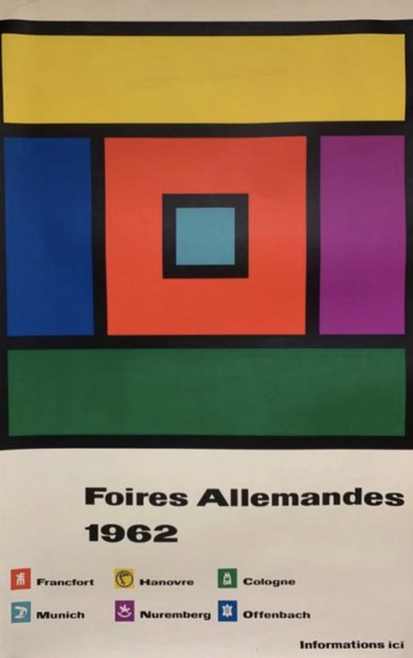 Foires Allemandes 1962 Original Vintage Poster