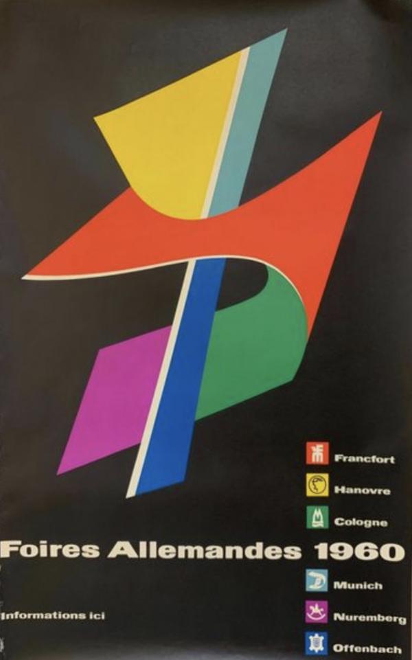 Foires Allemandes 1960 Original Vintage Poster