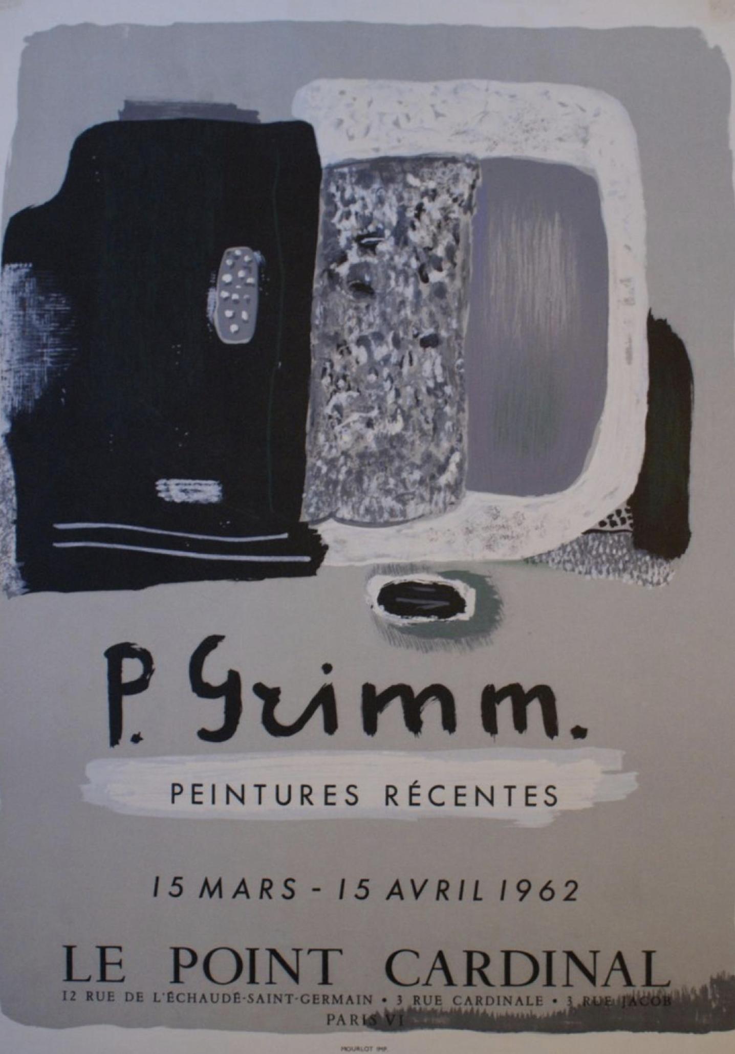 P. Grimm Le Point Cardinal 1962 Original Vintage Poster