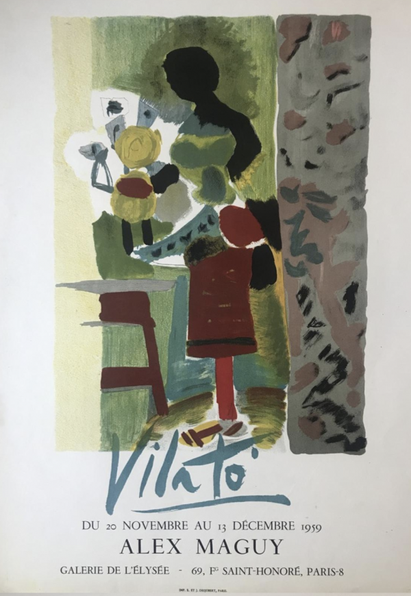 'Vilato' Alex Maguy 1959 Exhibition Poster Original Vintage Poster