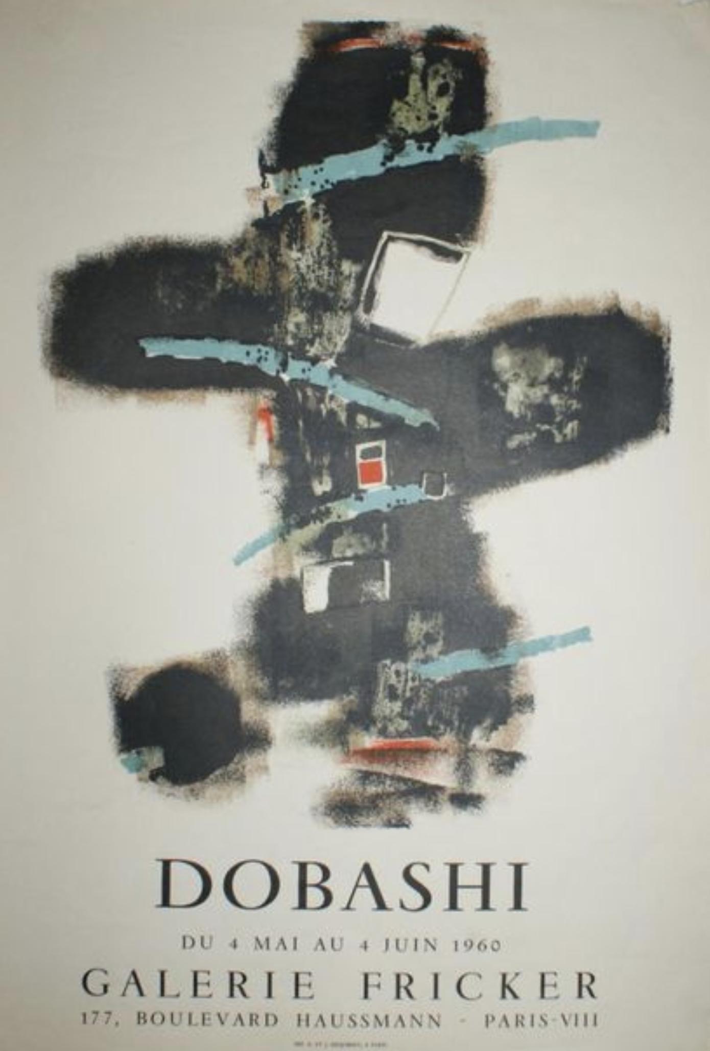 Dobashi Galerie Fricker Exhibition Original Vintage Poster