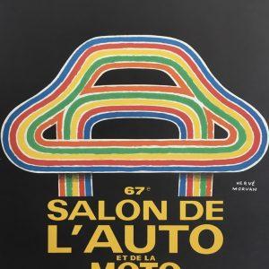 Salon l'auto de la moto 1980 by Herve Morvan Original Vintage Poster