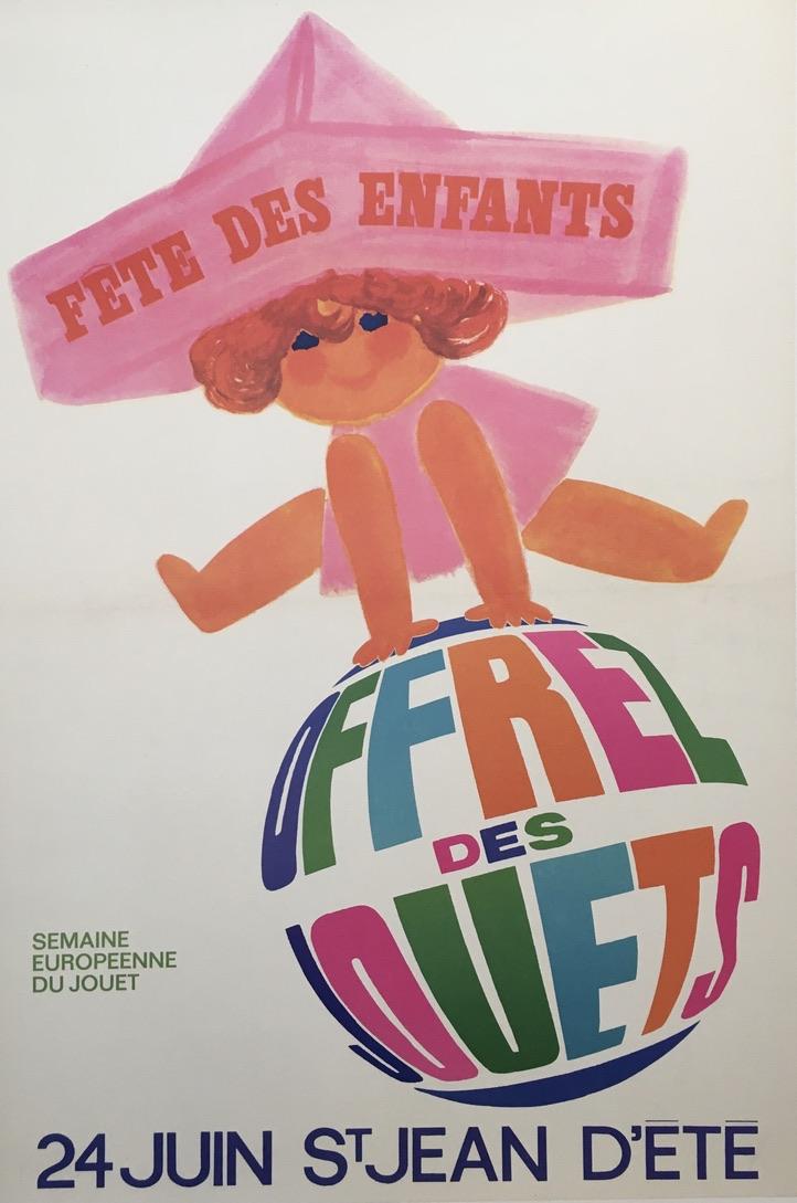 Fete des Enfants by Raoul Eric Castel Original Vintage Poster