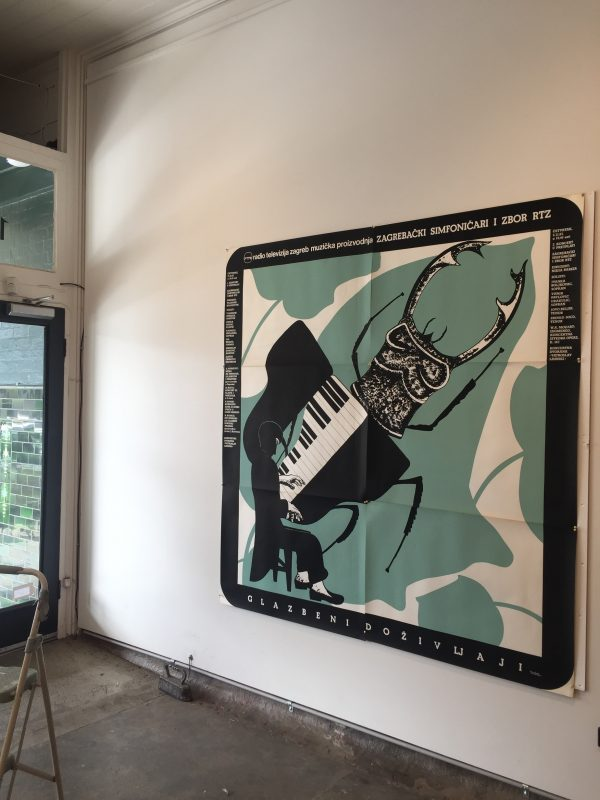 Boris Bucan Pianist Vintage Poster