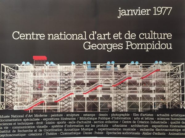 Georges Pompidou Widmer Vintage Poster Original