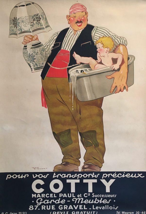 'Cotty' by Rene Vincent 1925 Original Vintage Poster