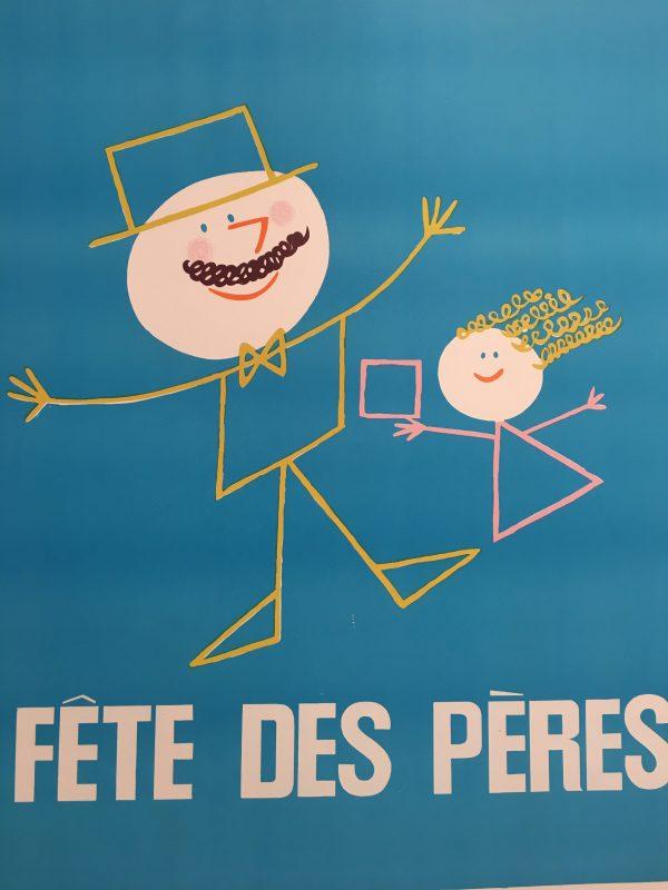 Fête des Peres Original Vintage Poster