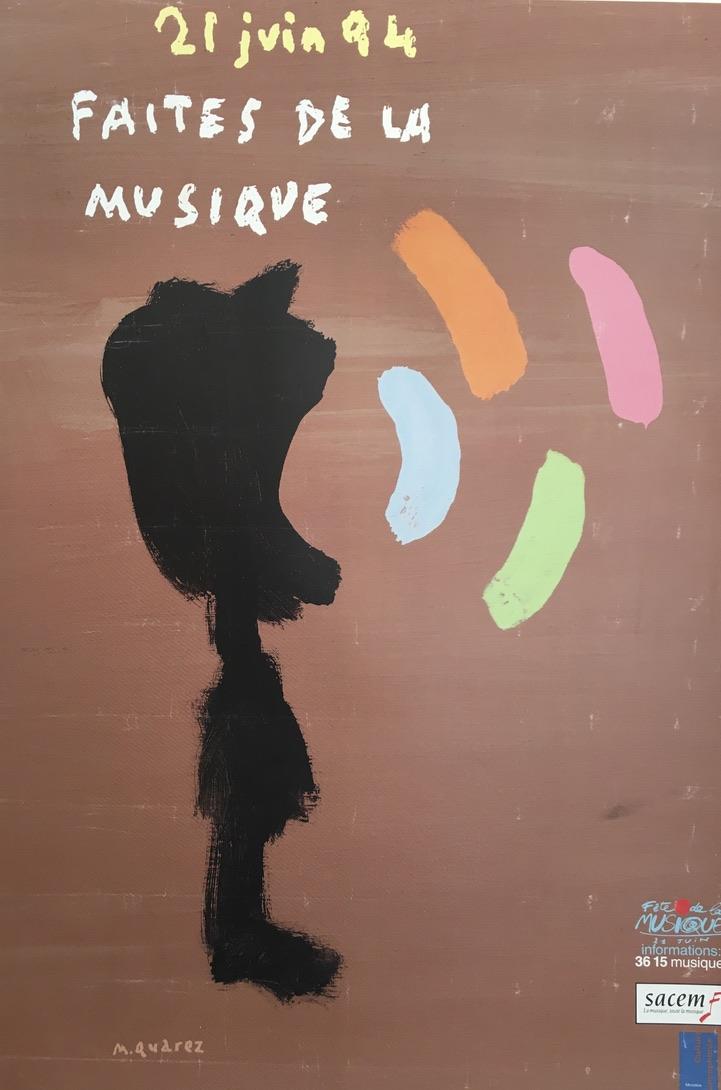 Quarez Faites de la Musique Original Vintage Poster