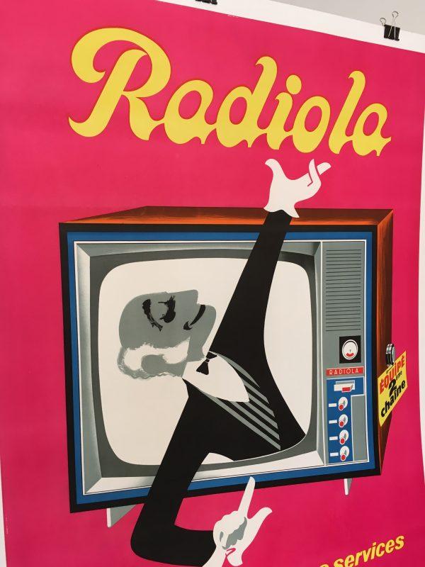 Radiola Pink Original Vintage Poster Letitia Morris Gallery