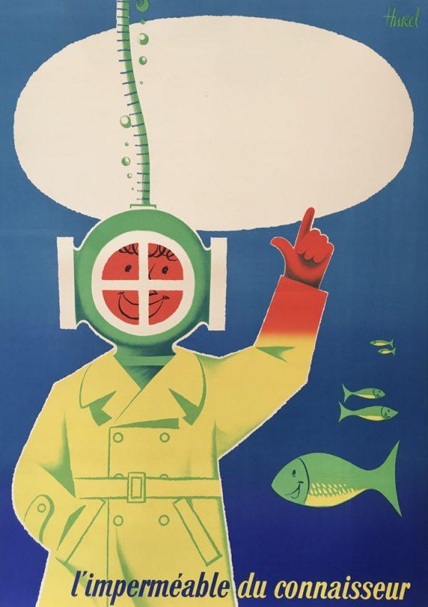 L'impermeable de Connaisseur Original Vintage Poster
