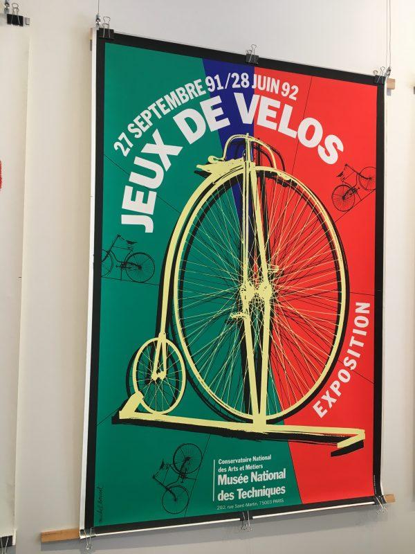 Jeux De Velos Exposition Original Vintage Bicycle Poster