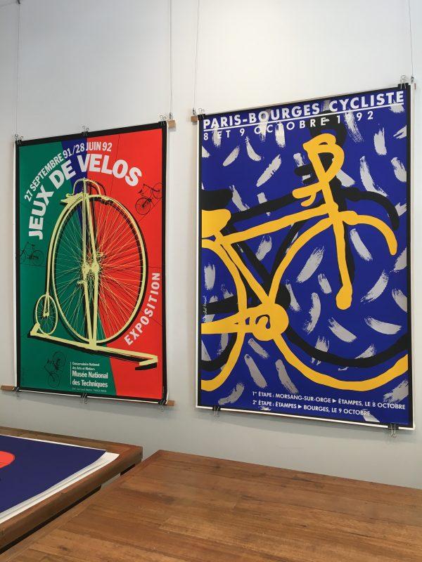 Paris Bourges Cycliste Original Vintage Cycling Poster