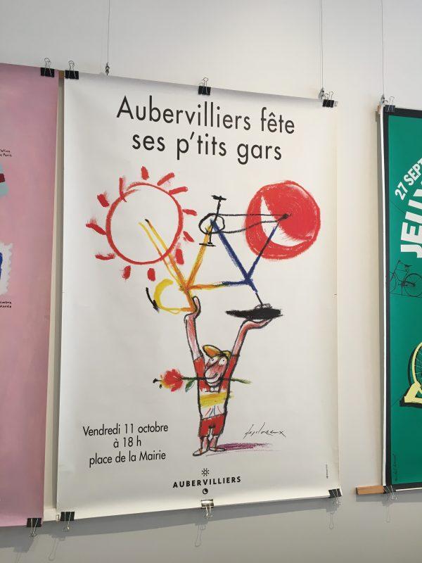 Aubervilliers fete ses g'tits gras Original Vintage Cycling Poster