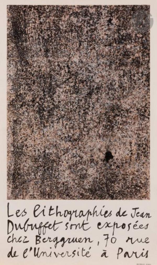 Jean Dubuffet 1960 Original Vintage Lithograph Poster