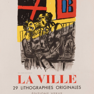 Fernand Leger Galerie Louise Leiris Original Vintage Poster