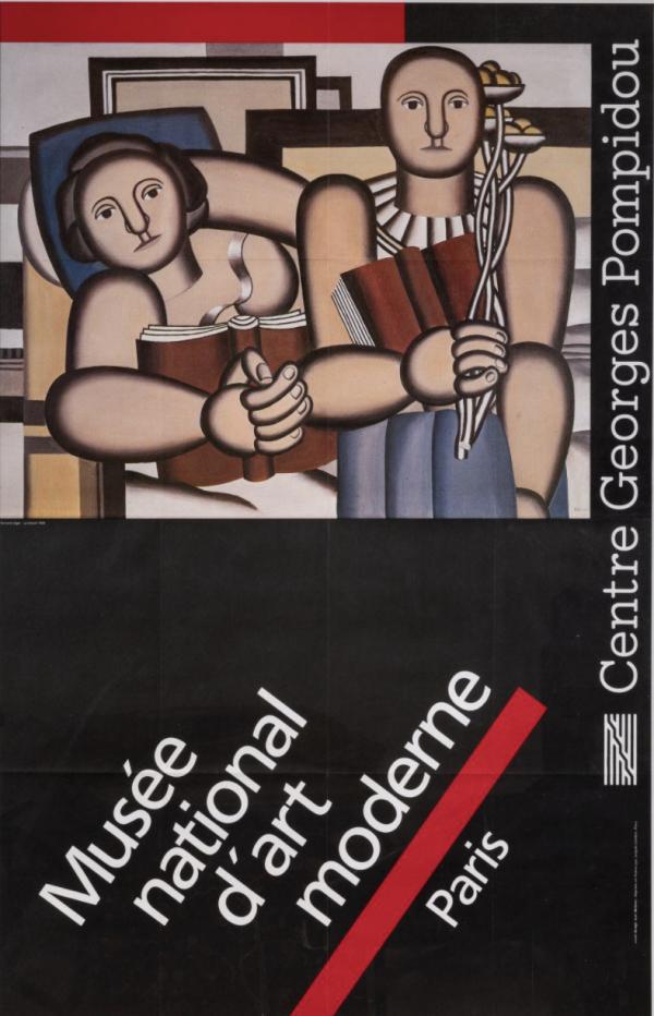Fernand Leger Musée d'art moderne de Paris Original Vintage Poster