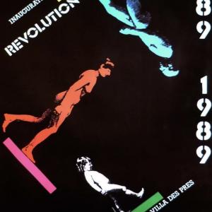 Inauguration de la sculpture Révolution Original Vintage Poster