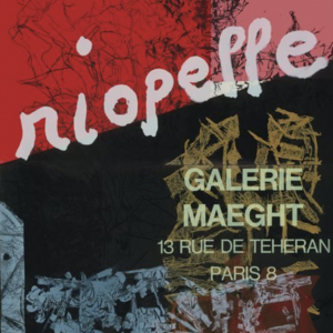 Riopelle Galerie Maeght Original Vintage Exhibition Poster