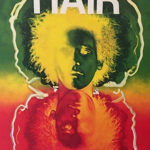 HAIR Theatre de la Porte Saint-Martin Original Vintage Poster