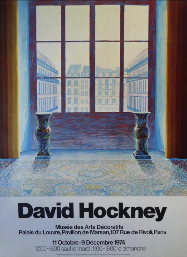 David Hockney Musee des Arts Decoratifs Original Vintage Poster