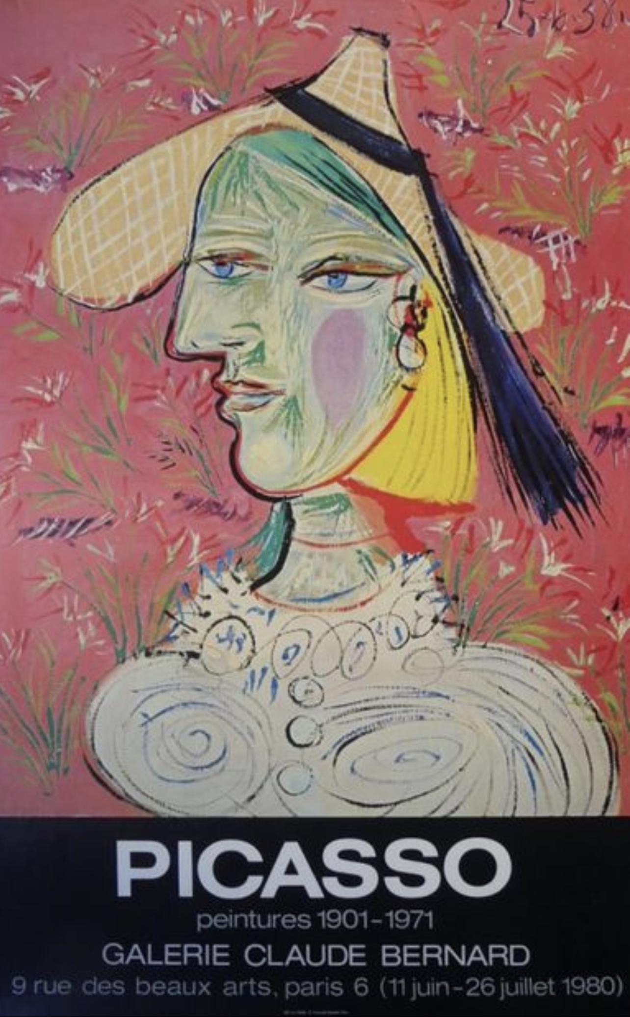 Picasso Galerie Claude Bernard 1980 Original Vintage Poster