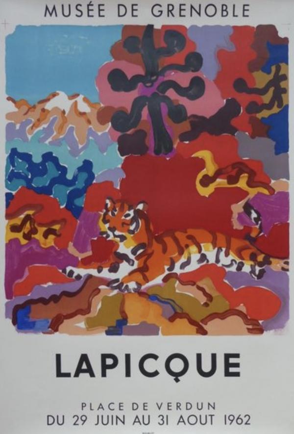 Lapicque 1962 Original Vintage Poster