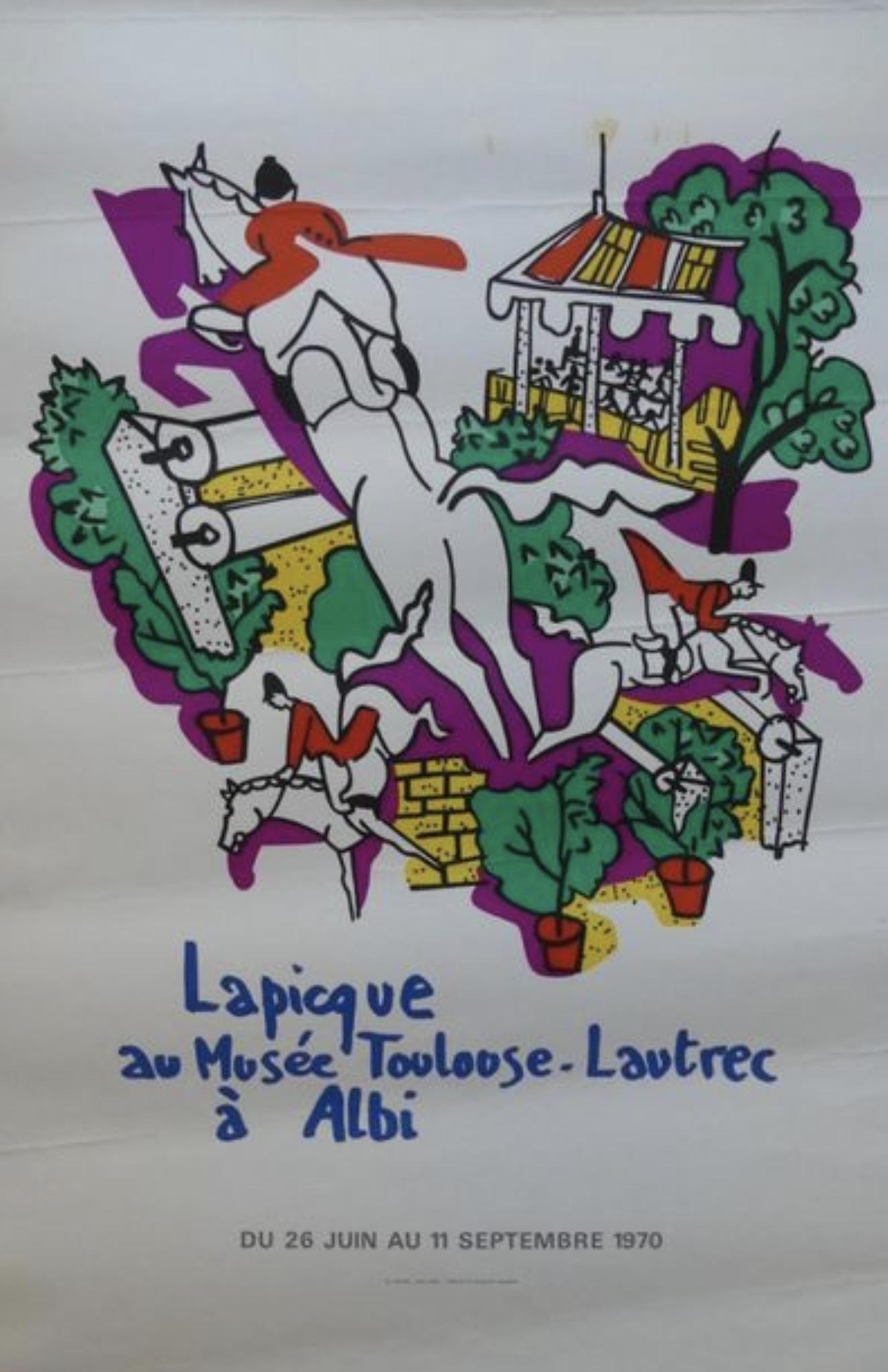 Lapicque Au Musee Touloose-Lautrec Original Vintage Poster
