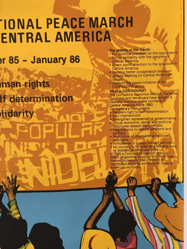 International Peace March in Central America Original Vintage Poster