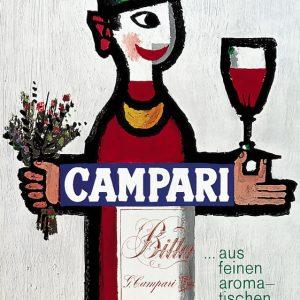 piatti campari vintage poster