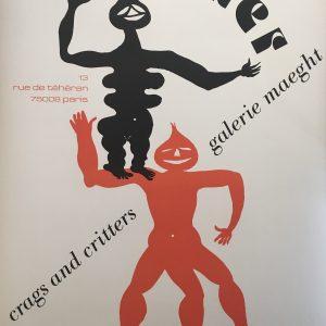 Calder Crags and Critters Galerie Maeght Original Vintage Poster