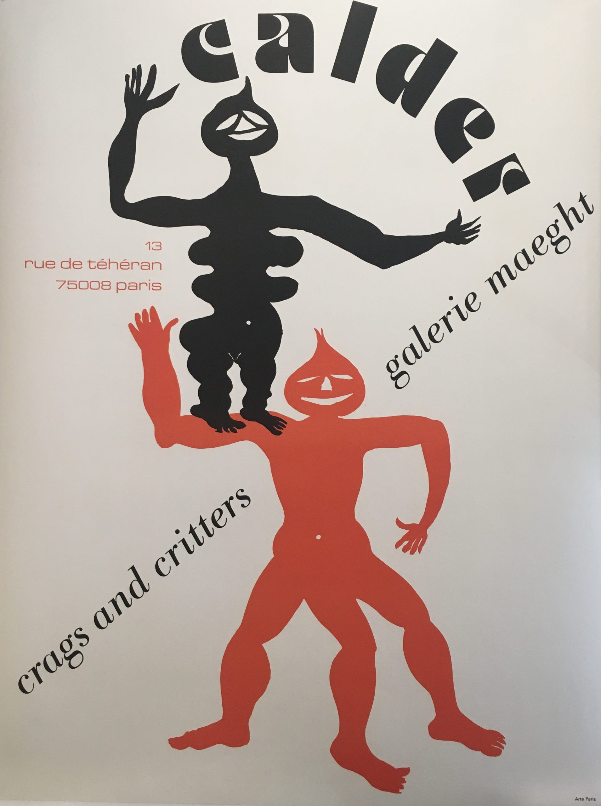Calder Crags and Critters Galerie Maeght Original Vintage Poster
