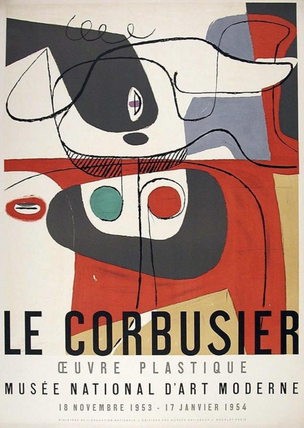 Le Corbusier Musée National d'Art Moderne Original Vintage Poster
