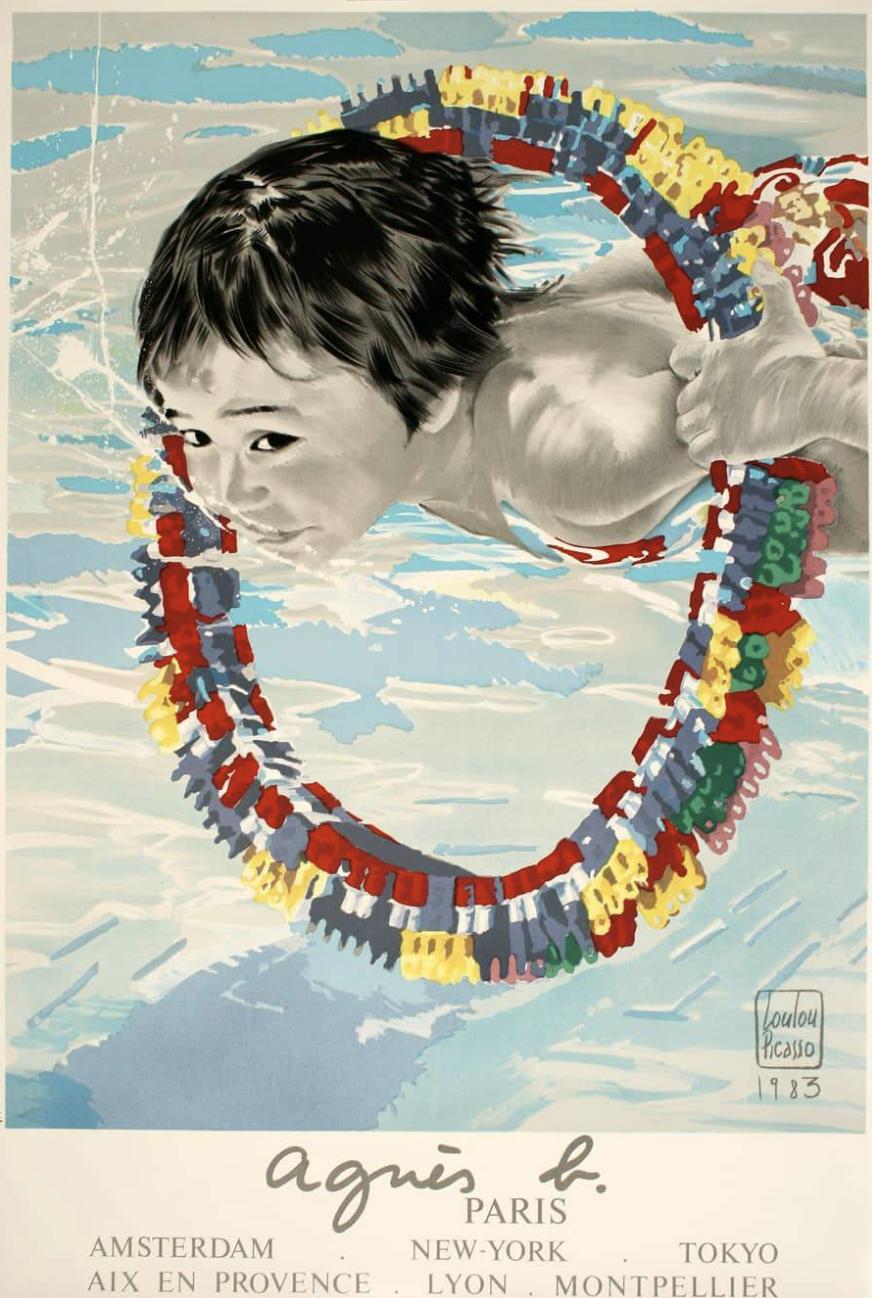 Agnes B & Pom D'api 1985 Original Vintage Poster