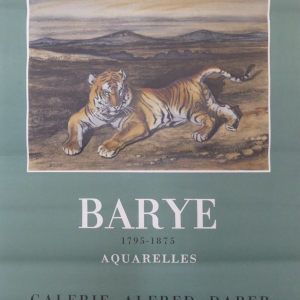 BARYE Original Vintage Poster