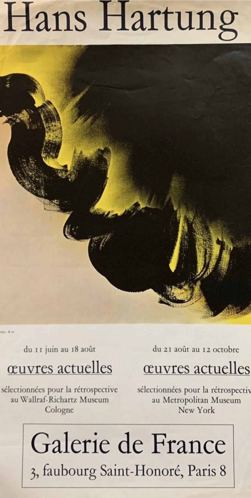 HANS HARTUNG Original Vintage Poster Letitia Morris Gallery