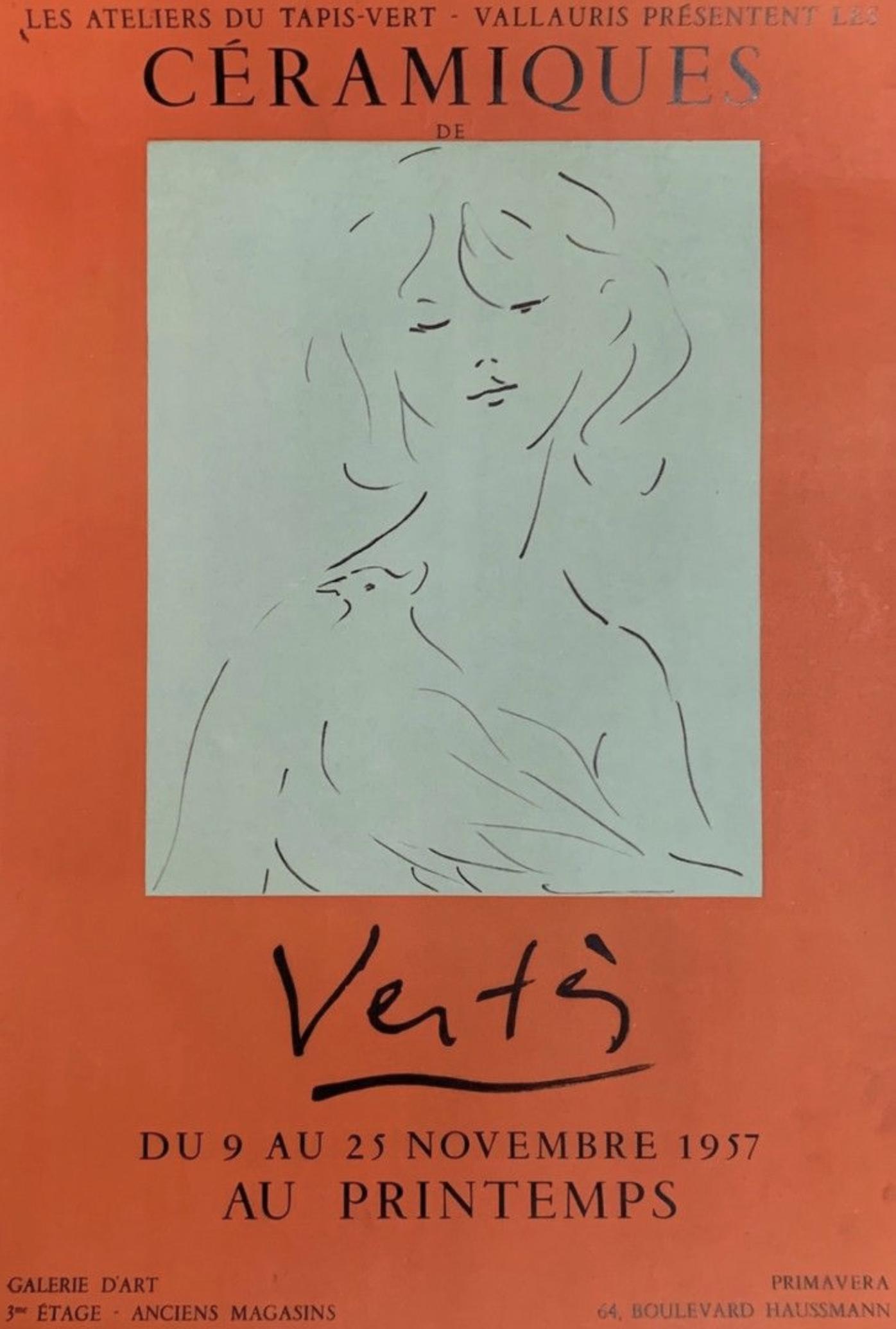 Ceramiques VERTES Original Vintage Poster Letitia Morris Gallery