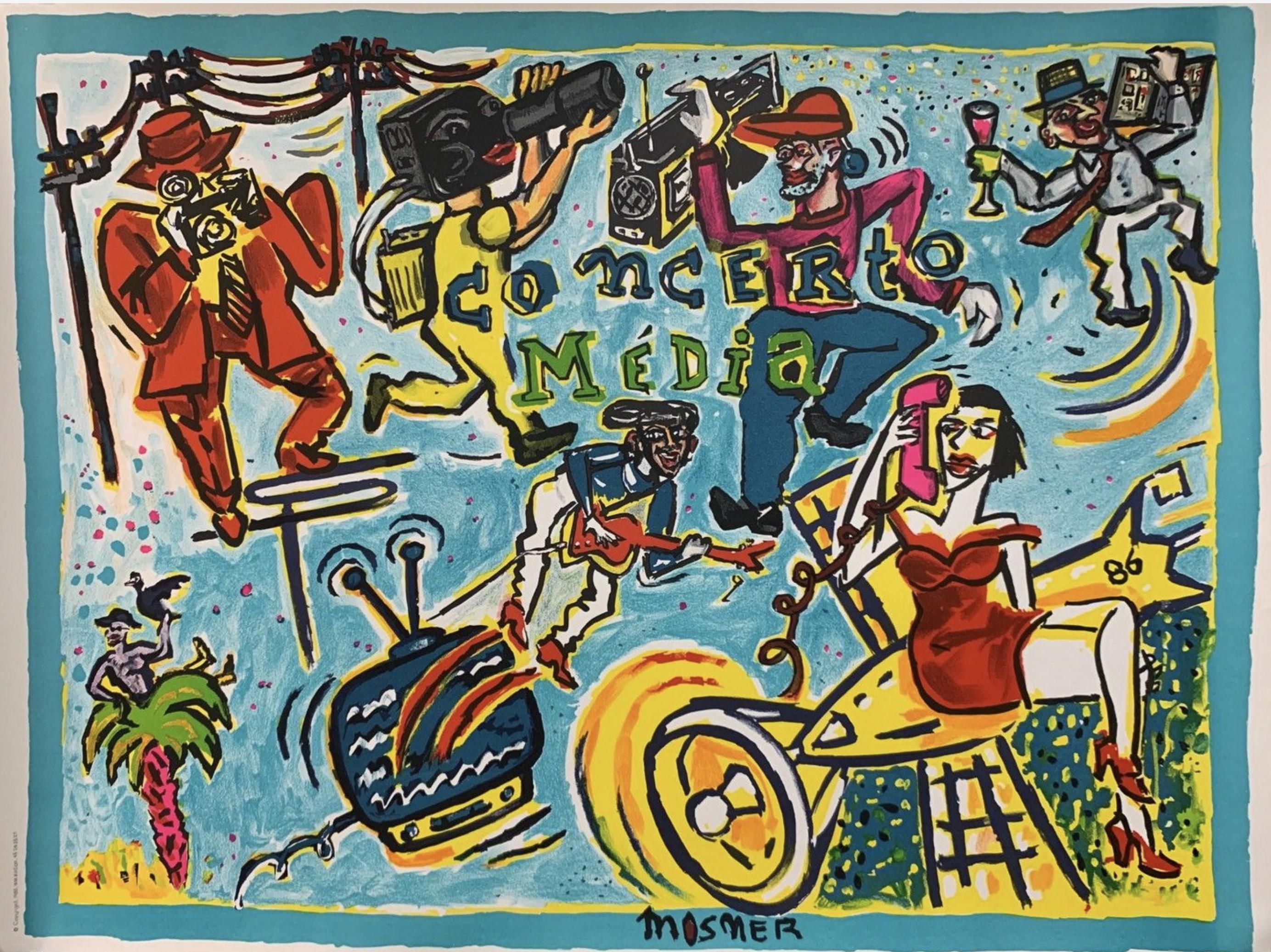 Concerto Media MOSNER Original Vintage Poster Letitia Morris Gallery