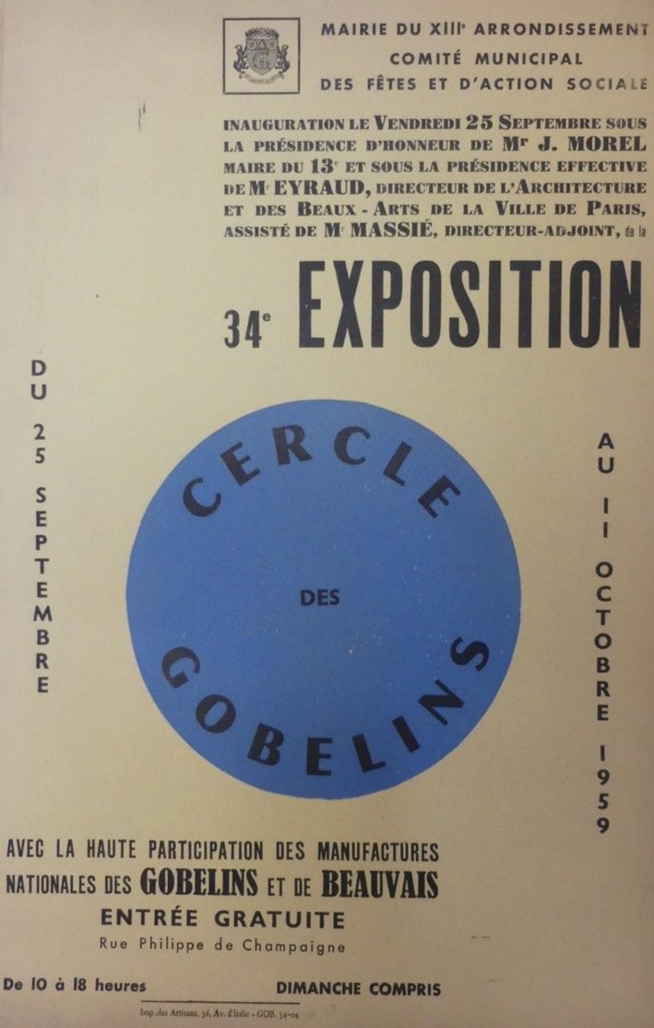 Cercle Des Gobelins Original Vintage Poster Letitia Morris Gallery