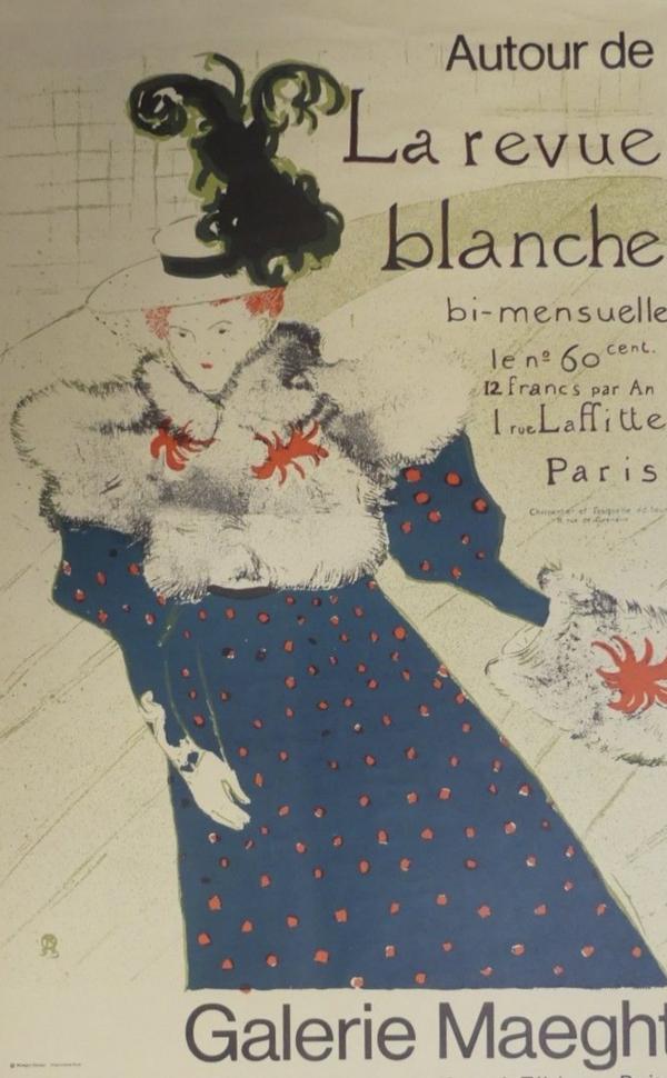 Autour De La Revue Blanche - Max Papart Original Vintage Poster