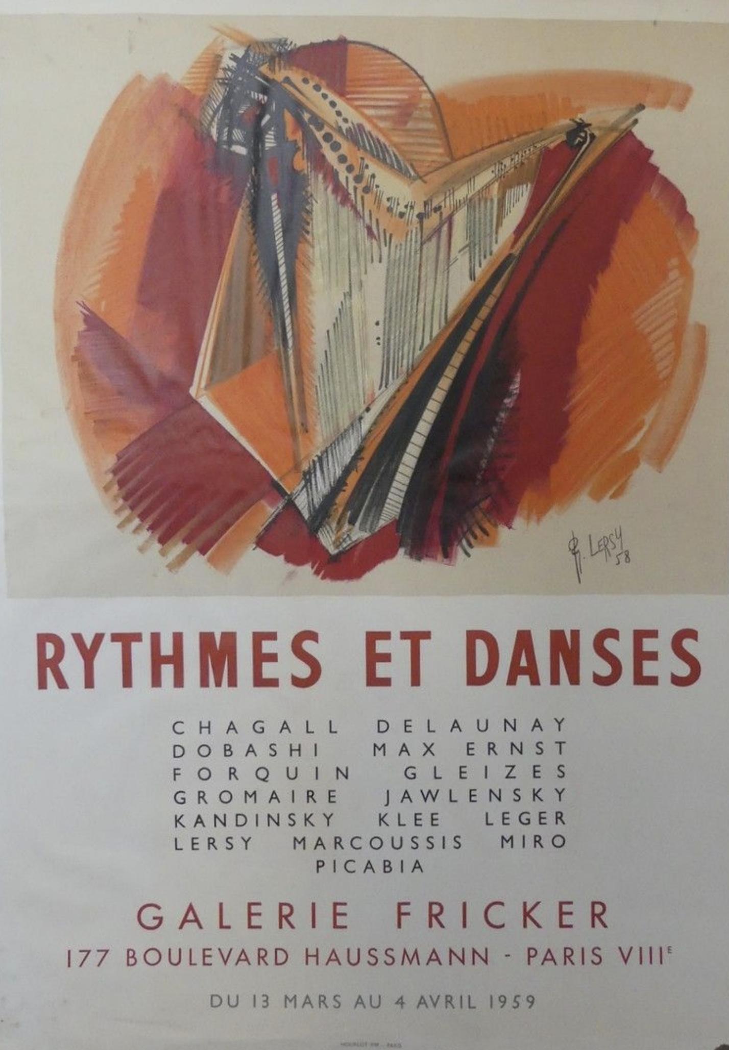 Galerie Fricker LERSY Original Vintage Poster Letitia Morris Gallery
