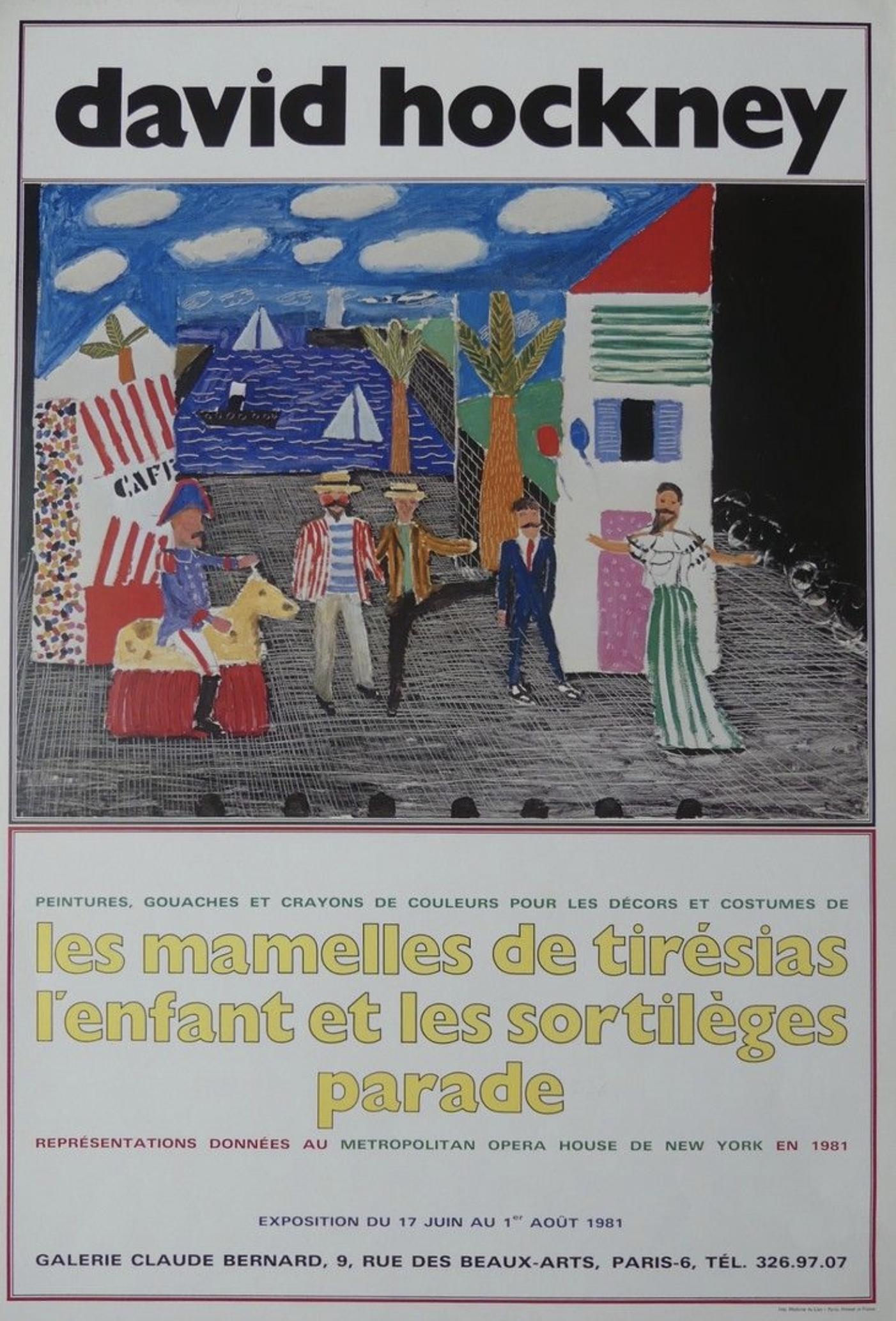 """David Hockney """"The Parade Outdoors"""""""