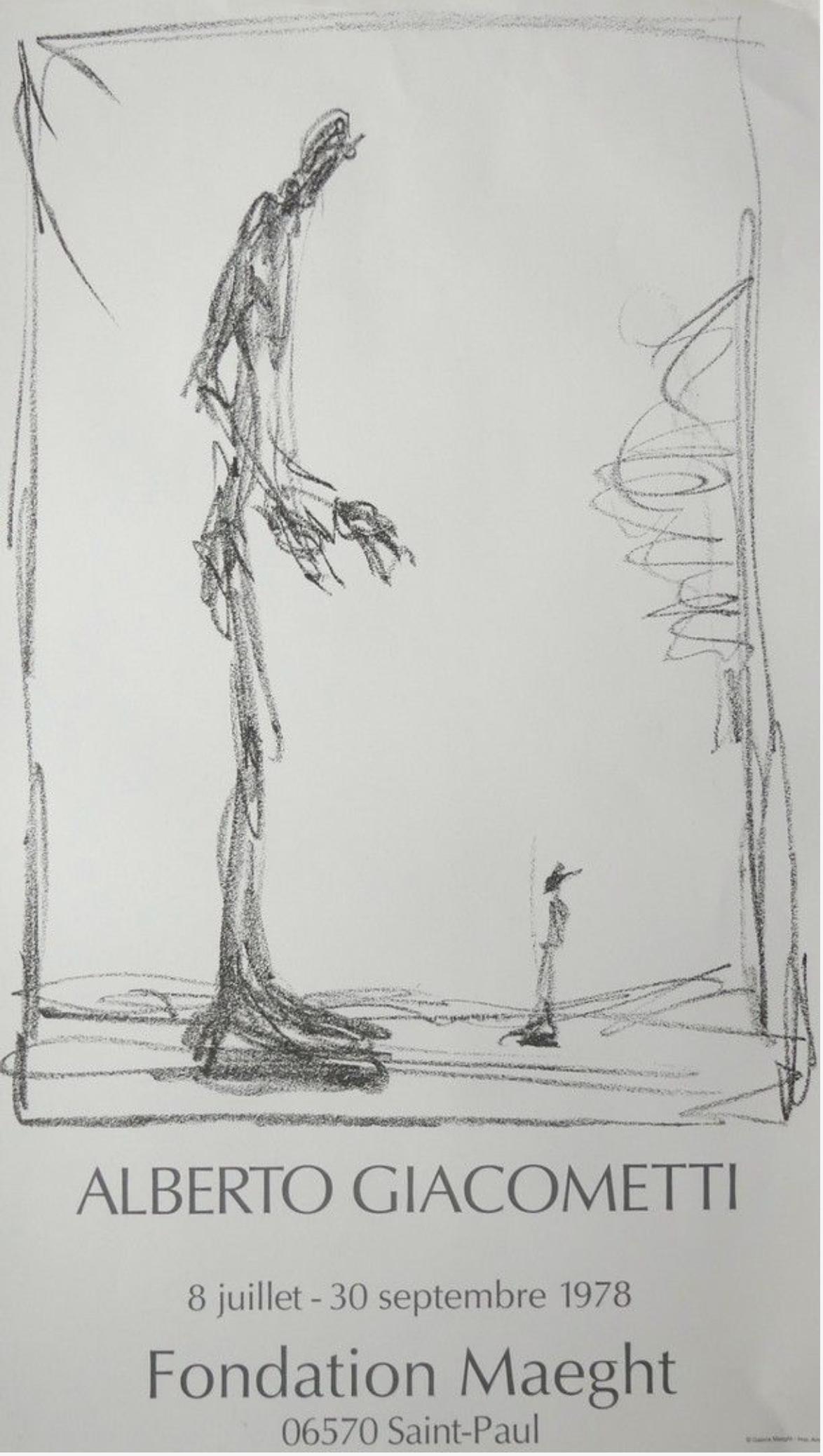 Giacometti Fondation Maeght Original Vintage Poster Letitia Morris Gallery