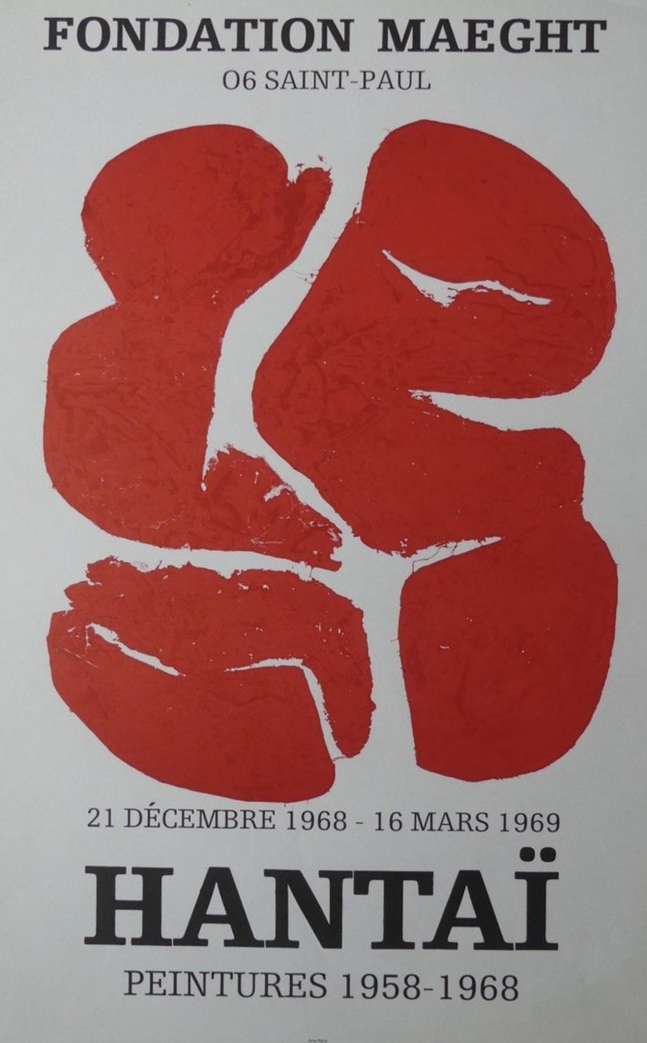 HANTAÏ Fondation Maeght Original Vintage Poster