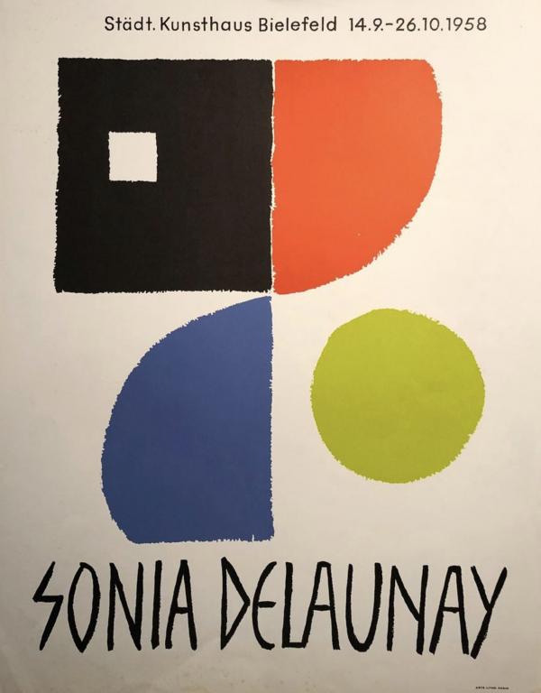Sonia Delaunay 1958 Original Vintage Poster